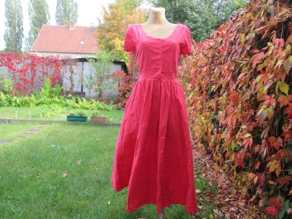 Cotton Dress / Dress Vintage / Pink Cotton Dress … - image 3