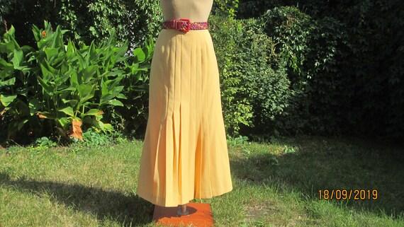 Wool Pleated Skirt / Long Pleated Skirt / Skirt Vi