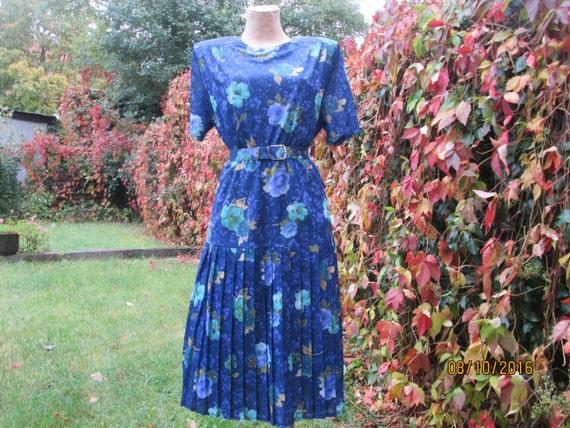 Pleated Dress / Pleated Dresses / Navy Pleated Dr… - image 4