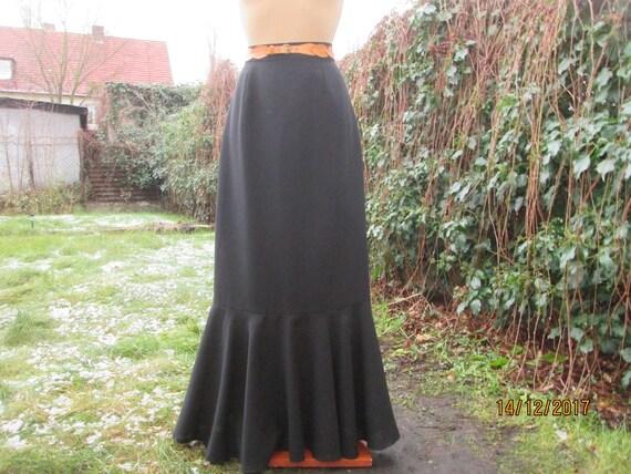 Long Wool Skirt / Skirt Vintage / Wool / Poly / Ma