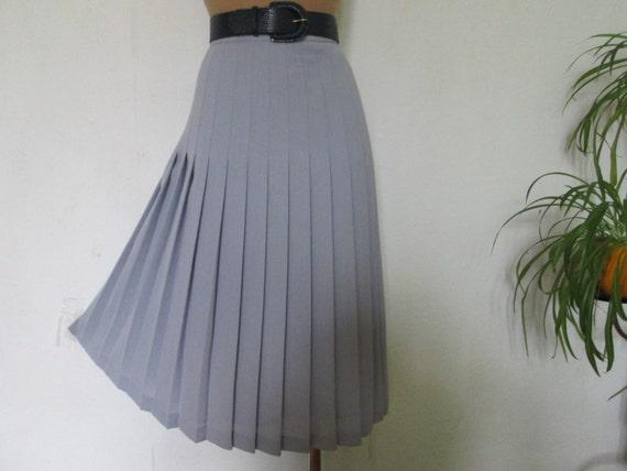 Wool Skirt / Pleated Skirt / Skirt Vintage / Gray