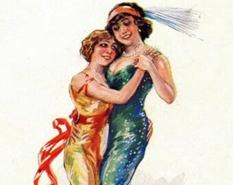 Danse amoureux de la-carte de voeux carte Note intime