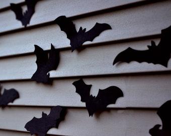 Bat Outdoor Waterproof Halloween Decoration- 16 Bats, Reusable Wall Decoration, Waterproof Indoor or Outdoor foam bats
