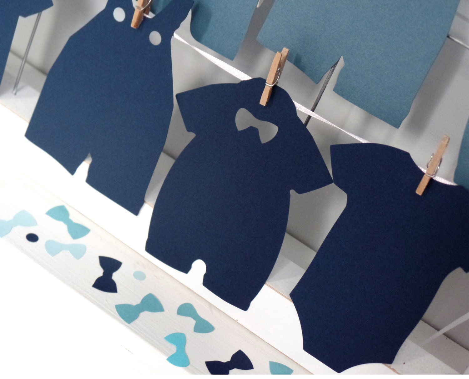 Little Man Large Onesies Paper Tags, Die Cuts, Baby Shower all in ...
