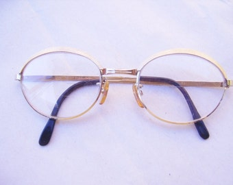 Vintage Gold Metal Female Wire Eyeglasses-Girls Womens