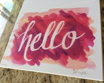 Hello -- Blank Note Cards, 10-pack***