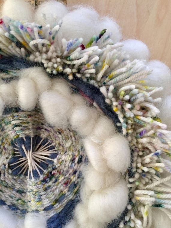 Woven Wall hanging circle weaving round woven wall wool wall hanging nursery weaving dream catcher tapestry weaving circular hoop