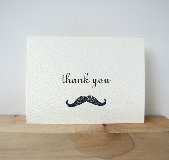 Thank You Cards Moustache Thank You Cards and Envelopes baby shower thank you cards birthday thank you cards