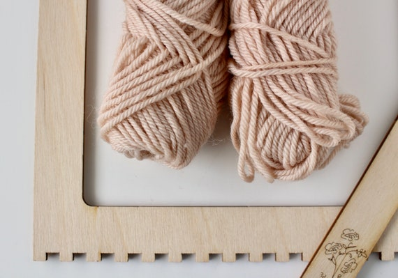Wool skein mini skein hand dyed wool pink wool pure wool