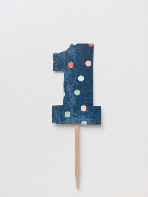One cake topper first birthday cake topper one year old cake topper paper one cake topper polka dot one cake topper kid's birthday cake top