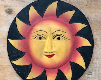 Wooden wall decor Sun and Moon