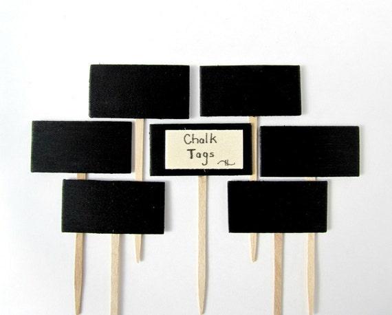 Chalkboard Cupcake Toppers, chalkboard chesse markers, Chalkboard food picks