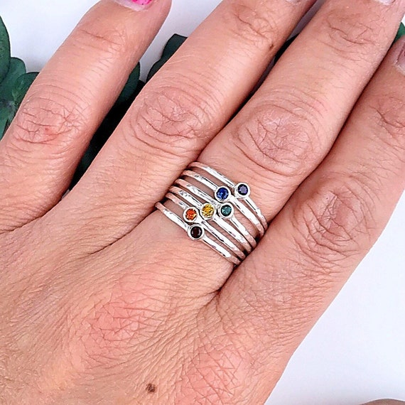 Lgbt Jewelry Girlfriend Fiance Ring Lgbt Pride Gift Thin Etsy
