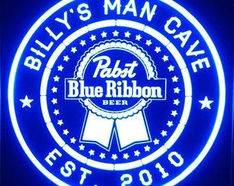 535c26cb6a Custom Pabst Blue Ribbon led Sign 20 color remote