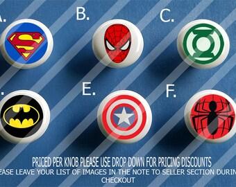 WONDER WOMAN Justice League DC Comics Superhero Cabinet Drawer Pull KNOB