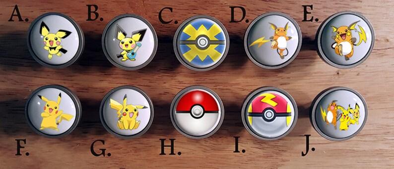 6dfef350e9 Pokemon Go Pikachu Evolution knobs / Bedroom Dresser Knob / | Etsy