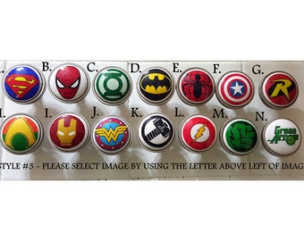 Superhero Knobs / Bedroom Dresser Knob / Nursery Drawer Knobs / Super Hero Ceramic Knobs / Superhero Cabinet Knobs Pull Handle Hardware