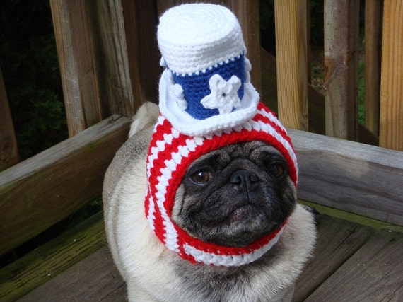 f4bc438a34a American Patriotic Uncle Sam Dog Hat   Made to Order Seen