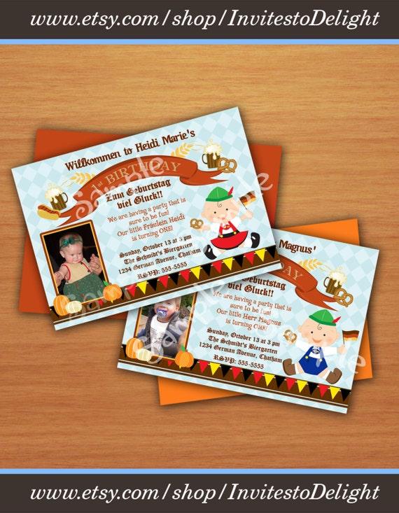 Personalized german oktoberfest 1st birthday invitation with stopboris Gallery
