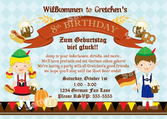 Personalized german oktoberfest invitation for kids or family etsy stopboris Images
