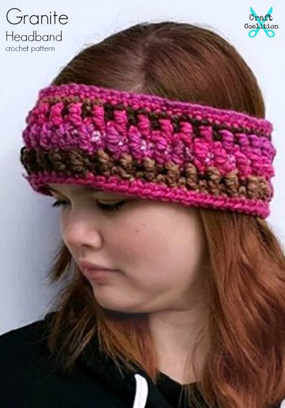 Granite Headbandear Warmer Crochet Pattern