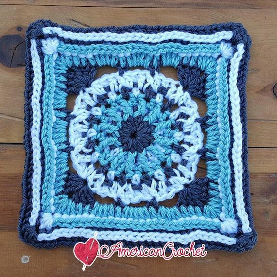 Maxine Circle In A Square Crochet Pattern Etsy