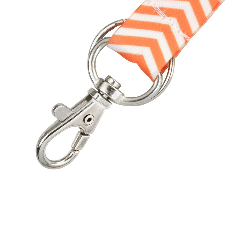 Chevron Lanyard with Breakaway Free Ship ID Cards /& Keys Cute Zigzag Badge Holder w Lobster Claw Clasp and Key Ring for Name Tag 10