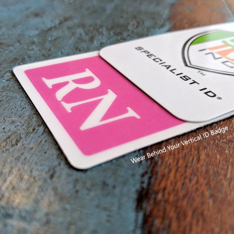 Pink RN Badge Buddy bb-rn-Pink-V Free Shipping! Wear Behind VERTICAL ID Badge Hot Pink Badge Buddy for Registered Nurses