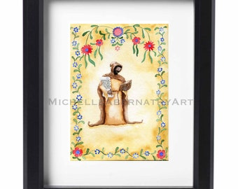 St. Ephrem the Syrian Watercolor Print
