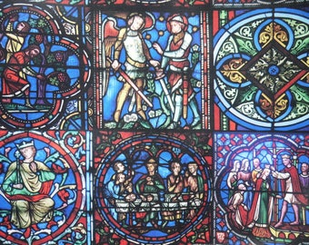"""Stained Glass - Polyester Fabric - 145cm/57"""" Wide - 1 yard - more for one cut - B3"""