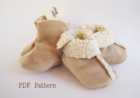 Baby Bootie Pdf Sewing Pattern Baby Toddler Boot Pattern Etsy