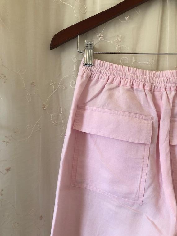 Millennial Pink Linen Cargo Pants - image 4