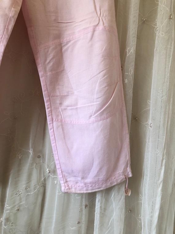 Millennial Pink Linen Cargo Pants - image 5