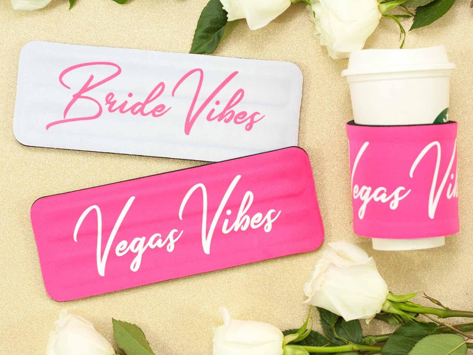 Bachelorette Party Slap Can Cooler Vegas Vibes & Bride Vibes | Etsy