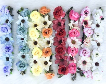 Bachelorette Flower Headbands | Floral headbands for bride | Floral crowns
