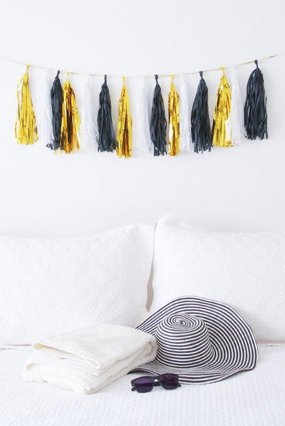 DIY Tissue Garland Tassel Banner Bachelorette Party