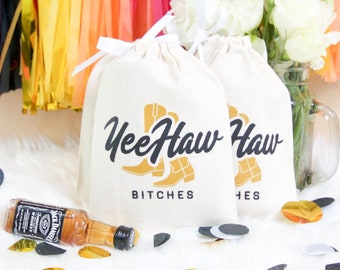 """5x7"""" Bachelorette Party Hangover Relief Bags - Yeehaw Nashville bachelorette - Bags for Hangover Kit"""
