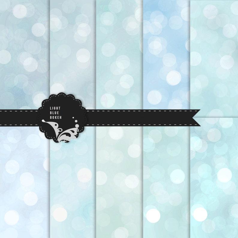 Bolle Blu Pallido Boekh Sfondo Carta Digitale 10 Pacco Etsy