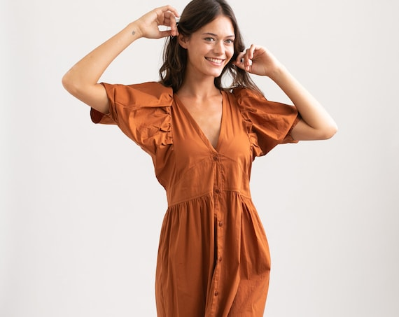 OASIS Button down Maxi dress