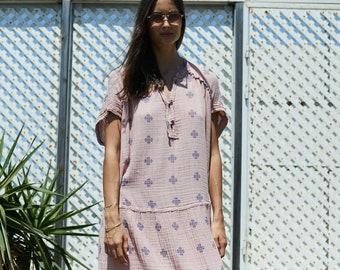 Organic cotton Midi Summer Dress.