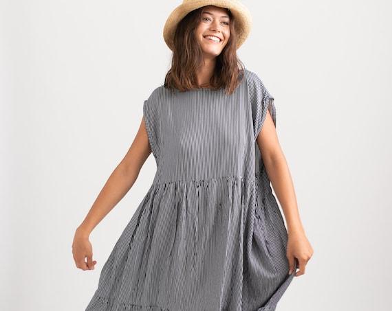 Odelia summer strips wide fit Dress.