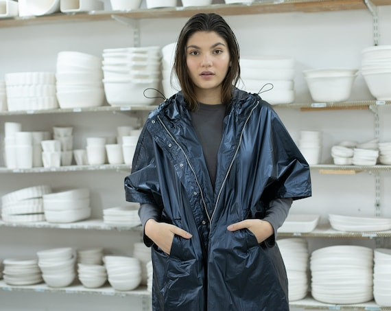 Ultra Poncho Jacket, Blue