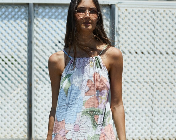 Summer Floral Print Relaxed Fit Maxi Dress.