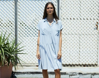 The Best Day to Night Casual Button Down Midi Dress.