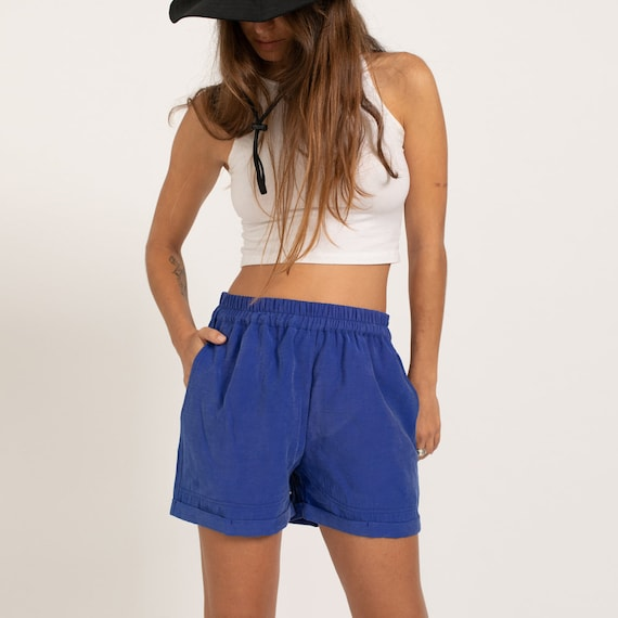 Summer Casual Basic Cotton Shorts, blue.