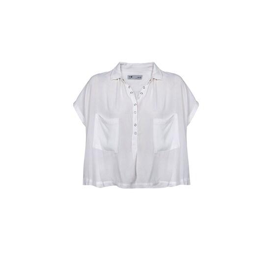 Summer White Poncho Shirt.