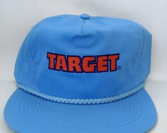 76bcd2b4e307a Vintage Target Hat Blue Retro Snapback Cap