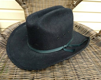 0d3981294215f Vintage Cowboy Hat Black Western Express Inc Small