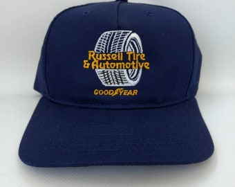 7d4da66cfeb Retro Trucker Hat Good Year Goodyear Russell Tire and Automotive Cap