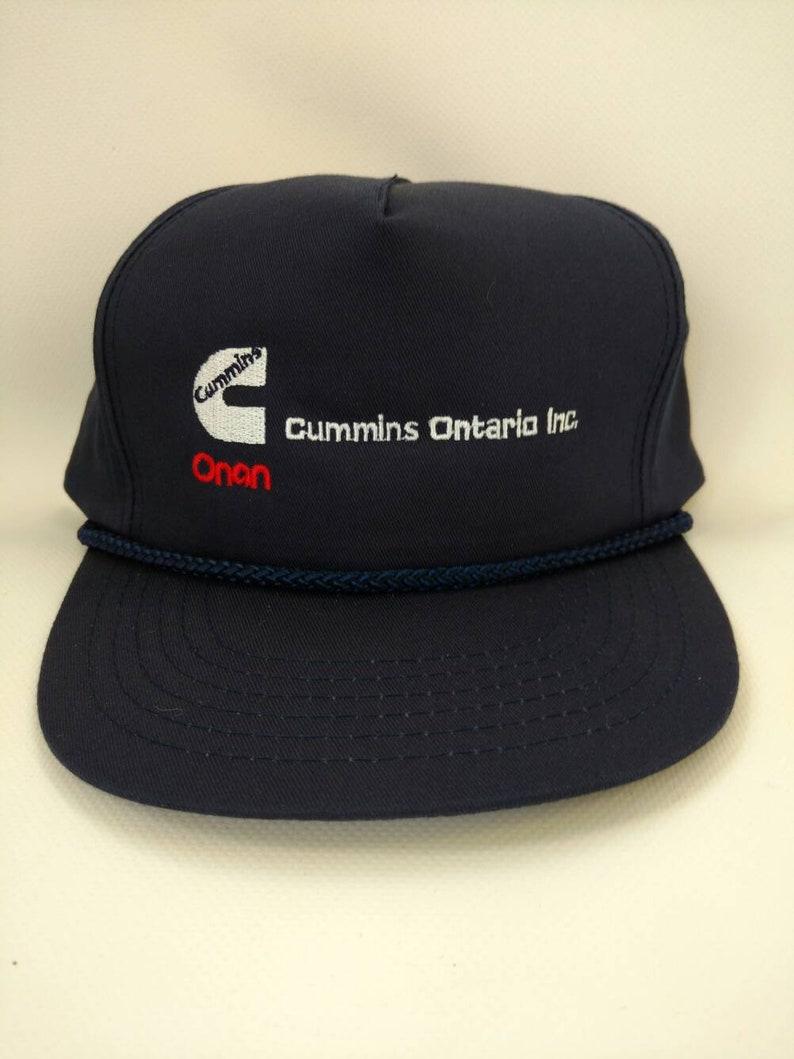 1501588f3bbd7 Baseball Cap Cummins Ontario Onan Generator Trucker Hat Retro